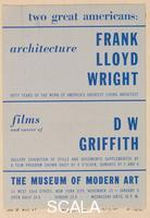 ******** Poster for the exhibition 'Two Great Americans', devoted to the architect Frank Lloyd Wright and to the filmmaker D.W. Griffith, MoMA, NY, 1940-41
