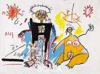Basquiat, Jean-Michel (1960-1988) Robot Man and Woman. 1982
