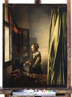 Vermeer, Jan (1632-1675) Girl Reading a Letter at an Open Window (c.1659)