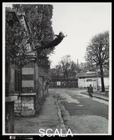 Klein, Yves (1928-1962) Leap into the Void. Artistic action by Yves Klein, photographed by Harry Shunk and Janos Kender, 1960