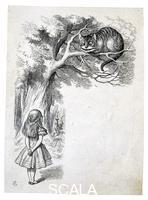 ******** Sir John Tenniel, Alice and the Cheshire Cat, a design engraved on wood by the Dalziel Brothers, AD 1865