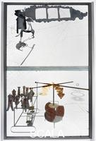 Duchamp, Marcel (1887-1968) The Bride Stripped Bare by Her Bachelors, Even (The Large Glass), 1915-23. Front view