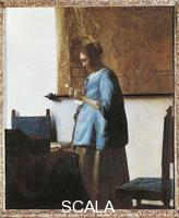 Vermeer, Jan (1632-1675) Woman in Blue Reading a Letter. 1650-1660