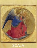 Angelico, Fra (1387-1455) Polyptych of the Dominicans, cusp: Announcing Angel, c. 1437