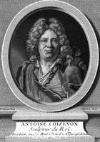 ******** CHARLES-ANTOINE COYSEVOX Spanish-French sculptor to the court of Louis XIV. Portrait by Rigaud, engraved by Matthey 1640 - 1720