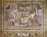 ******** Mosaic depicting justice, education and philosophy, from Chahba. Roman Civilisation, 3rd Century.