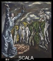 El Greco (Theotokopulos, Domenico 1541-1614) The Vision of Saint John, 1608-14