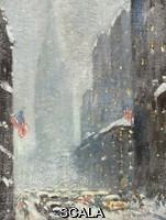 ******** Wiggins, Guy Carleton (1883-1962). Empire State Building, Winter.