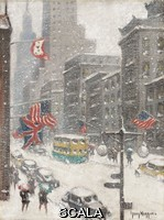 ******** Wiggins, Guy Carleton (1883-1962)Wiggins, Guy Carleton (1883-1962). Midtown 5th Avenue Storm.