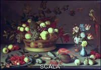 ******** A Basket of Grapes and other Fruit. Balthasar van der Ast (c.1593-1657). Oil on panel.