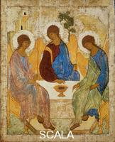 Rublev, Andrej (1360-c. 1430) Icon with the Trinity