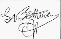 ******** Beethoven's signature