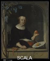 Metsu, Gabriel (1629-1667) A Woman Seated at a Window, probably ca. 1661
