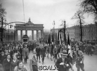 ******** Youth. The national socialist youth is marching by the Brandenburg Gate. Berlin. Photograph. March 8th 1933