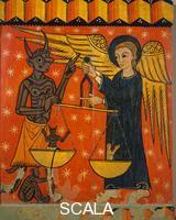 Master of Soriguerola (13th cent.) Altarpiece with angel and devil