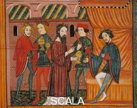 Catalan School The magi and king Herod, from Bellver de Cerdanya, 14th cent.
