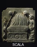 Indian art Buddha's cremation, from Gandhara, 2nd cent. AD