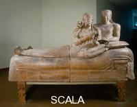 Etruscan art Sarcophagus of the Bride and Groom, 6th cent. b.C., from Necropoli of Banditaccia