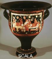 ******** Krater with scene of banquet, from Cuma, c. 340 BCE