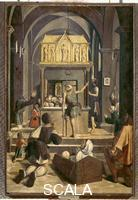 Lieferinxe, Josse (fl.1493-1508) Pilgrims at the Tomb of a St. Sebastian at Rome