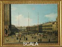 Canaletto (Canal, Giovanni Antonio 1697-1768) St. Mark's Square from the Basilica Looking toward the Church of San Geminiano and the Procuratie Nuove