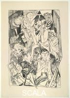 Beckmann, Max (1884-1950) Die Ideologen (The Ideologists), plate 6 from the portfolio 'Die Hoelle' (Hell), 1919