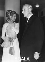 ******** Princess Grace and Earl Mountbatten, Royal Festival Hall, London, 1970.