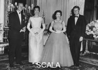 ******** The Queen and Prince Philip with the President and Mrs Kennedy, Buckingham Palace, 1961.