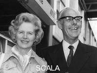 ******** Margaret Thatcher and her husband Denis leaving Heathrow Airport for Brittany, 18th August 1975.
