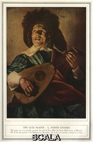 ******** The Lute Player by Judith Leyster. A man playing a lute, 17th century.. Painting by Judith Leyster reproduced in the Sphere, Christmas Number, 22 November 1939