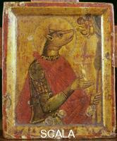 ******** Icon with saint and dog's head