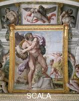 Carracci, Annibale (1560-1609) Polyphemus attacking Acis and Galatea
