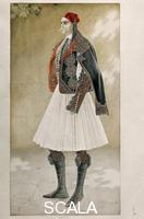 ******** Greek costumes: town costume, 1835