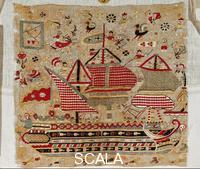 ******** Embroidery from Skyros with sailing ship