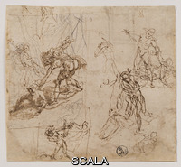 Cigoli, Ludovico (1559-1613) Several sketches for a scene of martyrdom, inv. 9008F