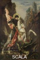 Moreau, Gustave (1826-1898) Saint George and the Dragon, 1889-90