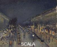 Pissarro, Camille (1830-1903) The Boulevard Montmartre at Night, 1897