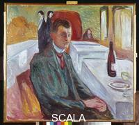 Munch, Edvard (1863-1944) Self-Portrait with Bottle of Wine