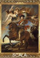 Velazquez, Diego (1599-1660), school Equestrian Portrait of Philip IV of Spain (Valladolid, 1605-Madrid, 1665), 1599-1660 (copy after a lost painting by Rubens)