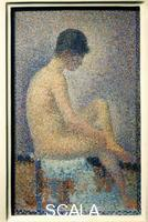 Seurat, Georges (1859-1891) Model in Profile