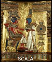 Egyptian art Gilded tabernacle of Tutankhamon from Thebes - detail (figures)