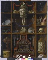 Hainz, Johann Georg (fl.1666-1700) Cupboard of Collectibles. 1666.