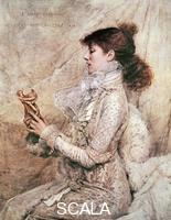 ******** Portrait of Sarah Bernhardt, of the pseudonym Rosine Bernhardt (Paris, 1844-1923), French actress. Print from 1879 from a painting by Jules Bastien-Lepage (1848-1884).