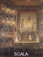 ******** Performance of the opera Pirro by Giovanni Paisiello (1740-1816) at Narodowy theatre, Warsaw, 1790. 18th century.