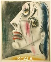Picasso, Pablo (1881-1973) Study for Guernica: a woman weeping