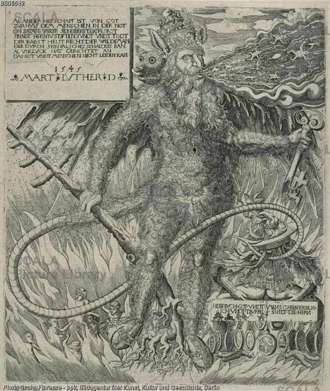 Lorch, Melchior (1526-1583) The Pope as a Wild Man, 1545.