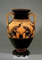 Exekias (6th cent. B.C.) Black-figure amphora with Achilles and Ajax playing dice