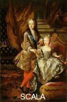 Troy, Jean-Francois de (1679-1752) Portrait of Louis XV of France and Mary Anne Victoria of Spain