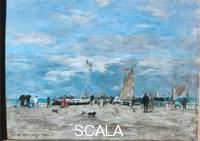 Boudin, Eugene (1824-1898) The Pier at Deauville