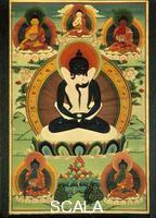Mughal art Banner of Tibetan temple: Bodhisattva Samantabhadra in mystic embrace with his Shakti